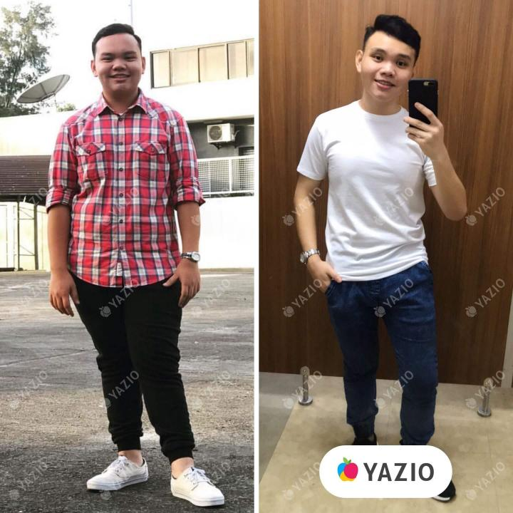 Velasco lost 75 lb with YAZIO