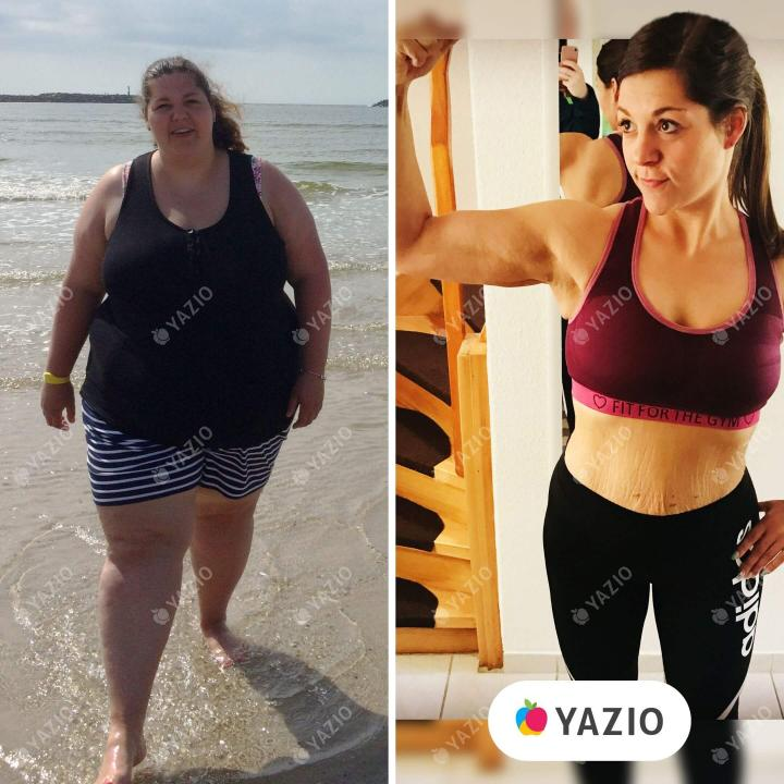 Janna lost 187 lb with YAZIO