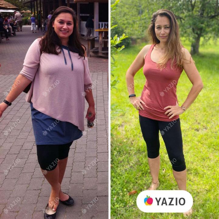 Claudia hat 46 kg mit YAZIO abgenommen