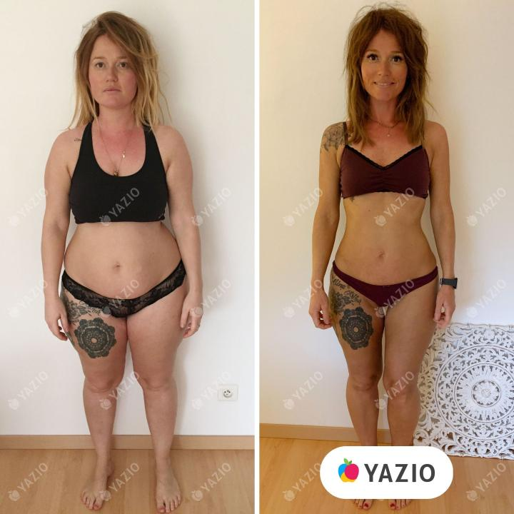Célia lost 53 lb with YAZIO