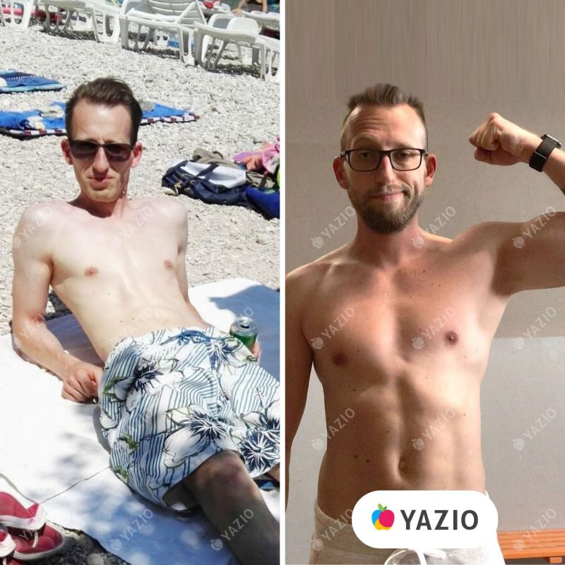 Uwe gained 31 lb with YAZIO