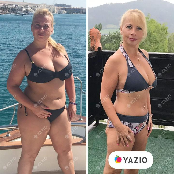 Petra lost 46 lb with YAZIO