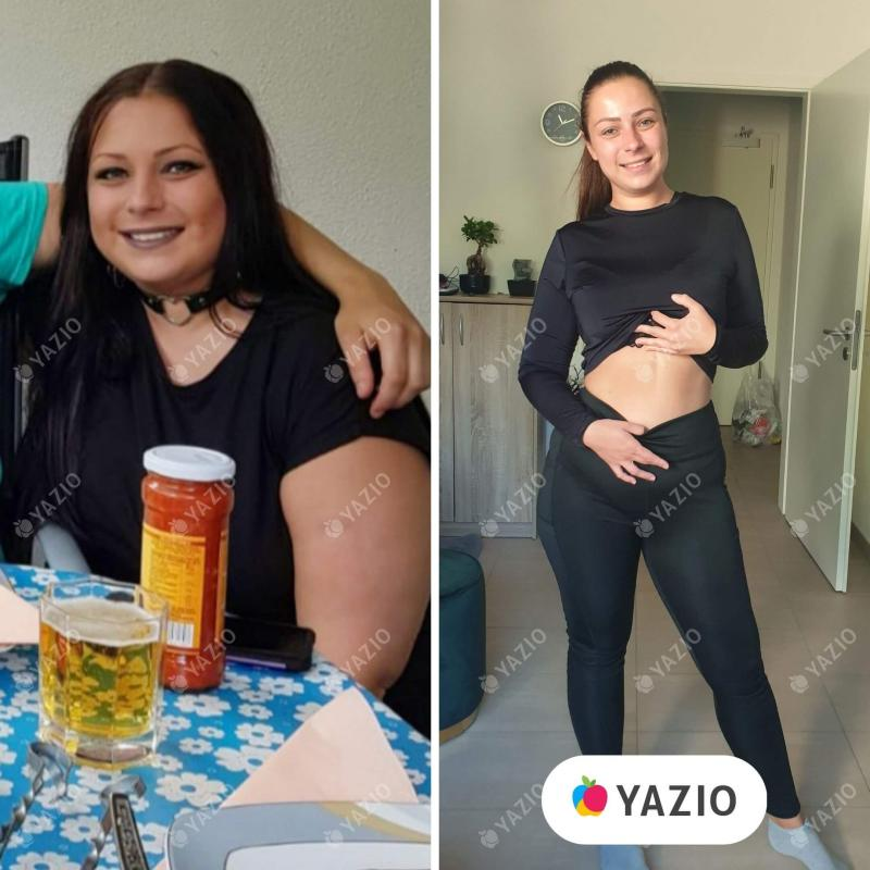 Vera ha perso 46 kg con YAZIO