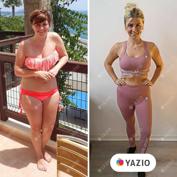 Tatjana perdeu 32 kg com o YAZIO