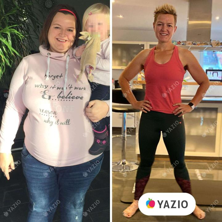 Marina ha perso 62 kg con YAZIO