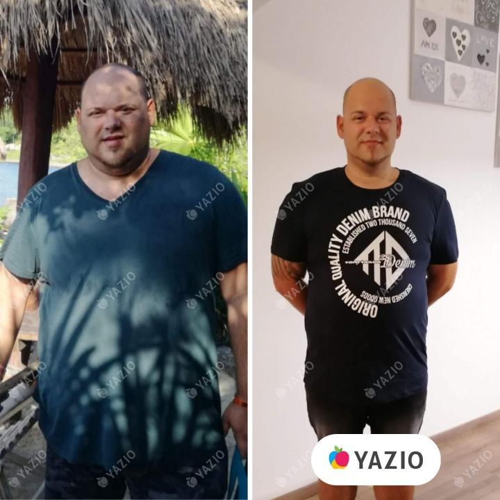 Adrian ha perdido 52 kg con YAZIO