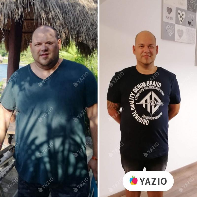 Adrian ha perso 52 kg con YAZIO