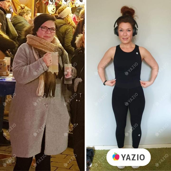 Yvonne hat 23 kg mit YAZIO abgenommen