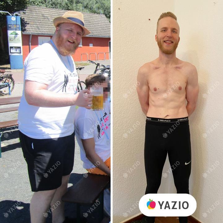 Bastian ha perso 51 kg con YAZIO