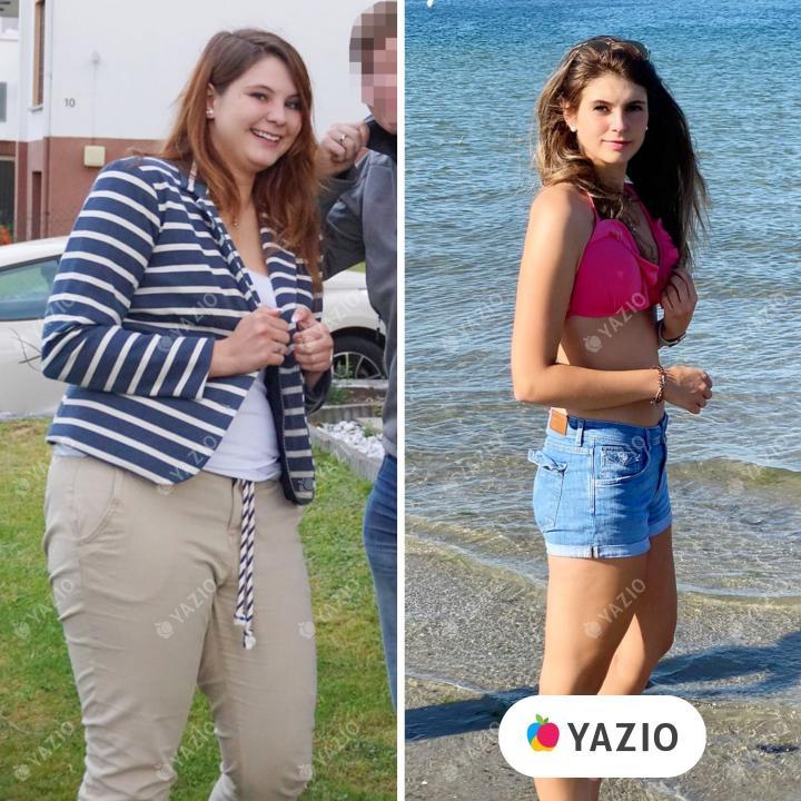 Nadine hat 30 kg mit YAZIO abgenommen